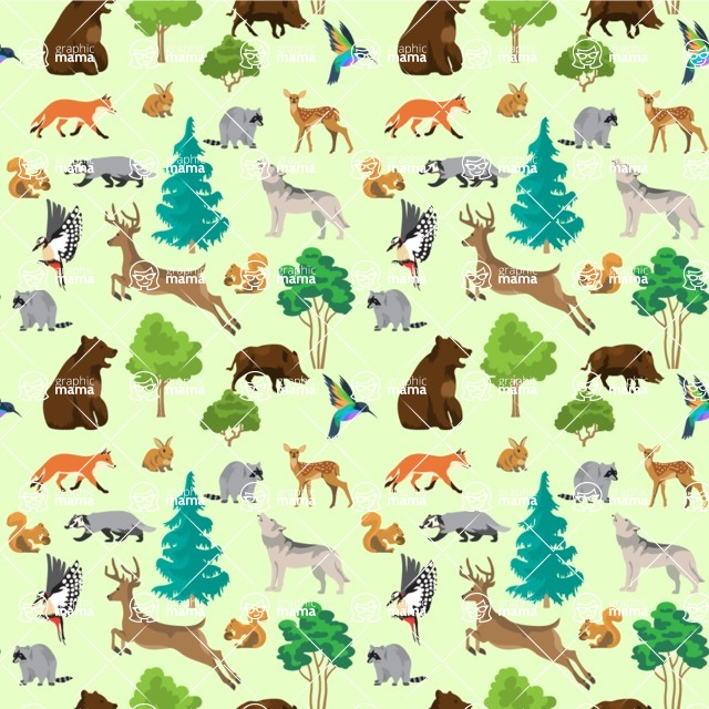 Seamless Pattern Designs Mega Bundle - Animal Pattern 34