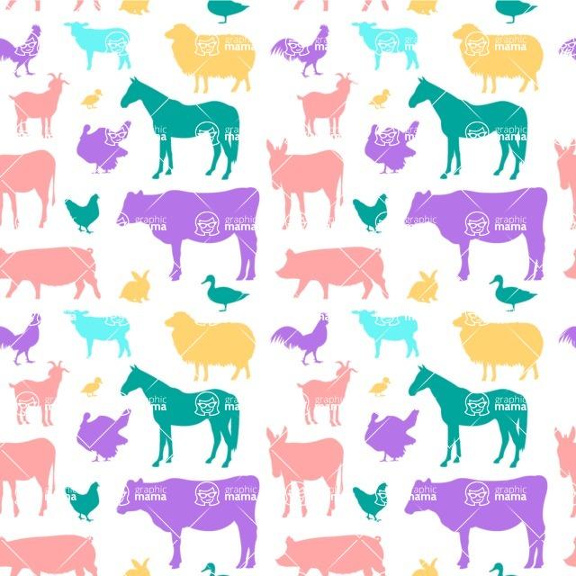 Seamless Pattern Designs Mega Bundle - Animal Pattern 36