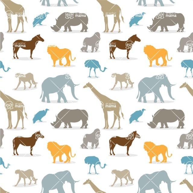 Seamless Pattern Designs Mega Bundle - Animal Pattern 90