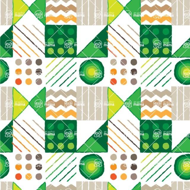Seamless Pattern Designs Mega Bundle - Hand-drawn Pattern 63