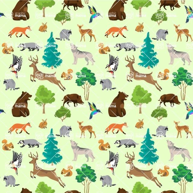 Seamless Pattern Designs Mega Bundle - Animal Pattern 130