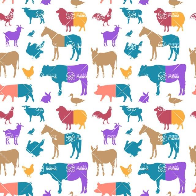 Seamless Pattern Designs Mega Bundle - Animal Pattern 132