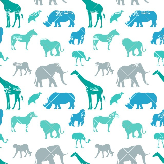 Seamless Pattern Designs Mega Bundle - Animal Pattern 138