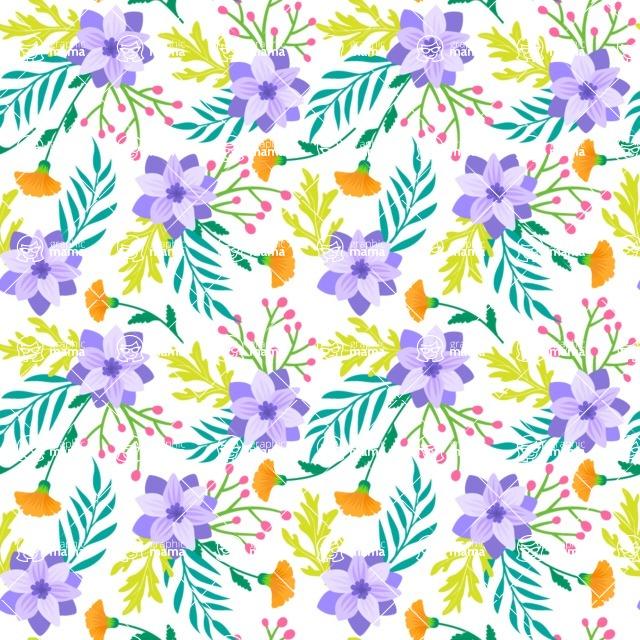 Seamless Pattern Designs Mega Bundle - Flower Pattern 1