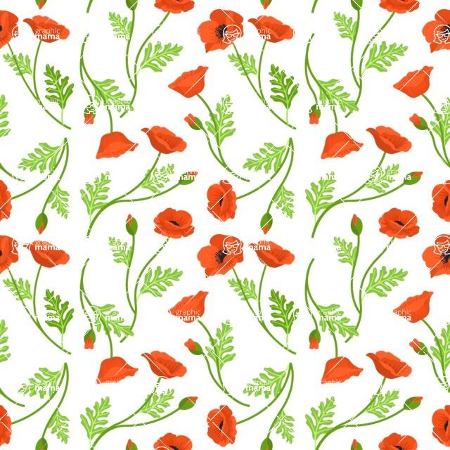 Seamless Pattern Designs Mega Bundle - Flower Pattern 2
