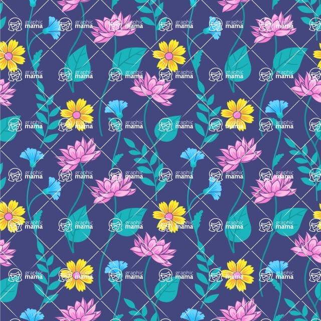 Seamless Pattern Designs Mega Bundle - Flower Pattern 3