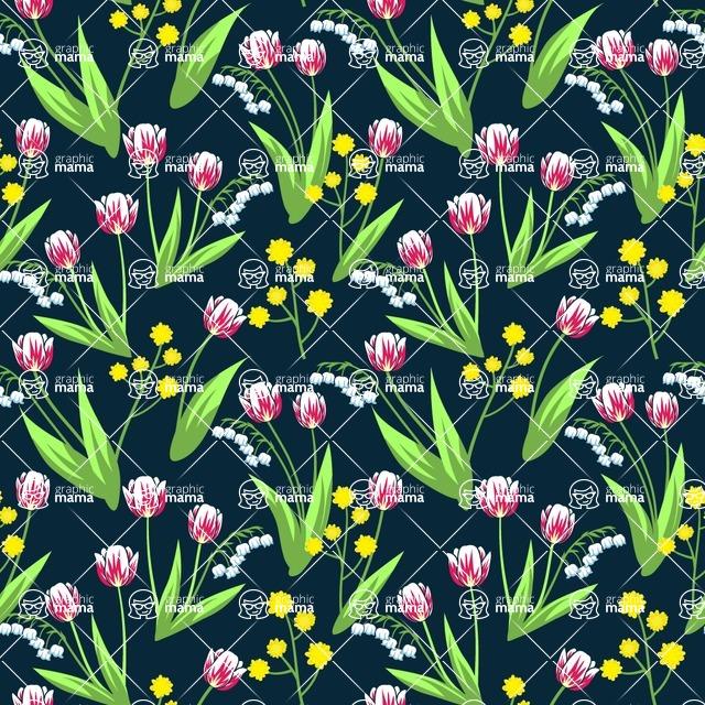 Seamless Pattern Designs Mega Bundle - Flower Pattern 4