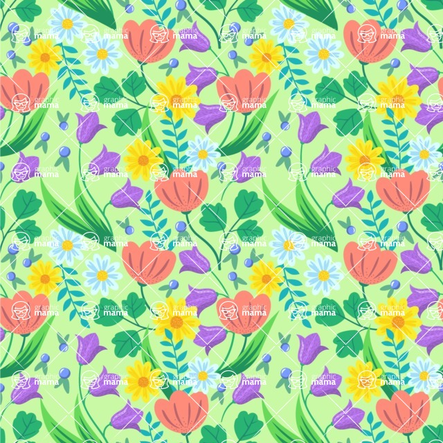 Seamless Pattern Designs Mega Bundle - Flower Pattern 5