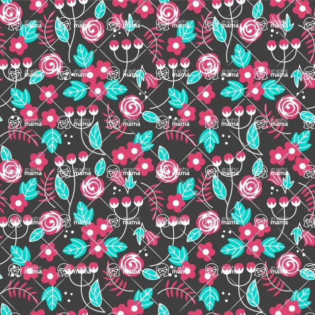 Seamless Pattern Designs Mega Bundle - Flower Pattern 6
