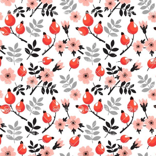 Seamless Pattern Designs Mega Bundle - Flower Pattern 7