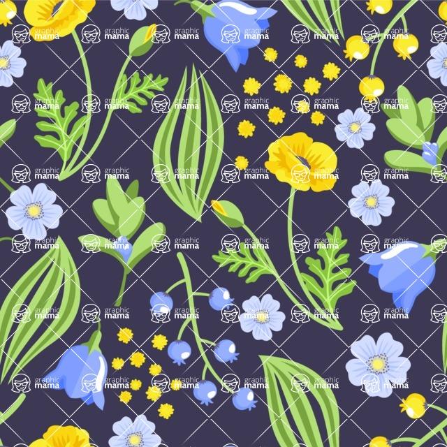 Seamless Pattern Designs Mega Bundle - Flower Pattern 8
