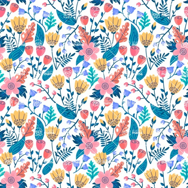 Seamless Pattern Designs Mega Bundle - Flower Pattern 9