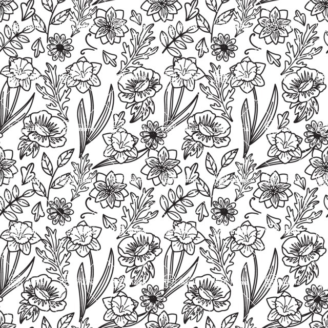 Seamless Pattern Designs Mega Bundle - Flower Pattern 10