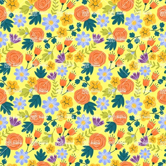Seamless Pattern Designs Mega Bundle - Flower Pattern 11