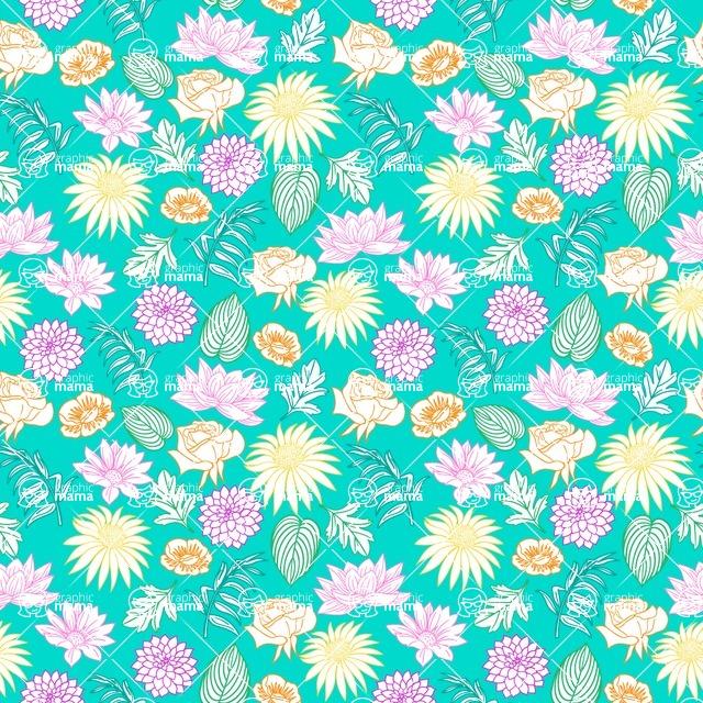 Seamless Pattern Designs Mega Bundle - Flower Pattern 12