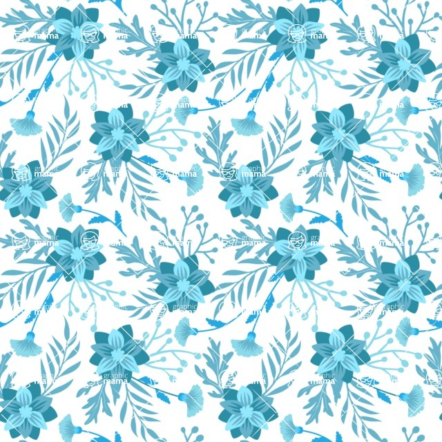 Seamless Pattern Designs Mega Bundle - Flower Pattern 13