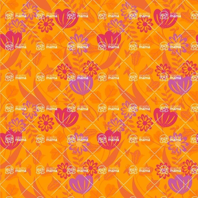 Seamless Pattern Designs Mega Bundle - Flower Pattern 17