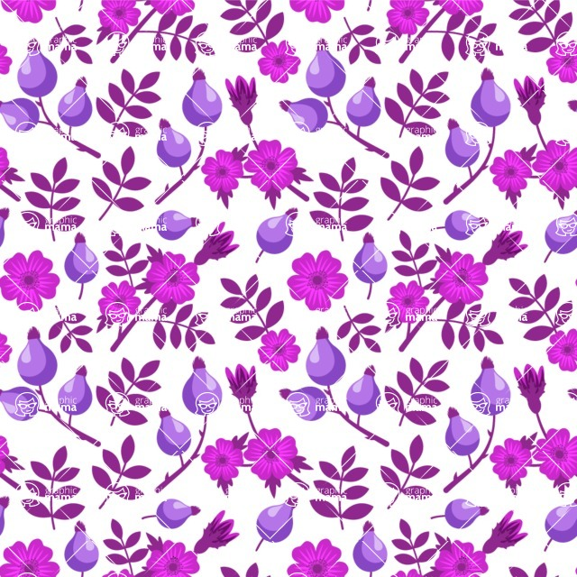 Seamless Pattern Designs Mega Bundle - Flower Pattern 19