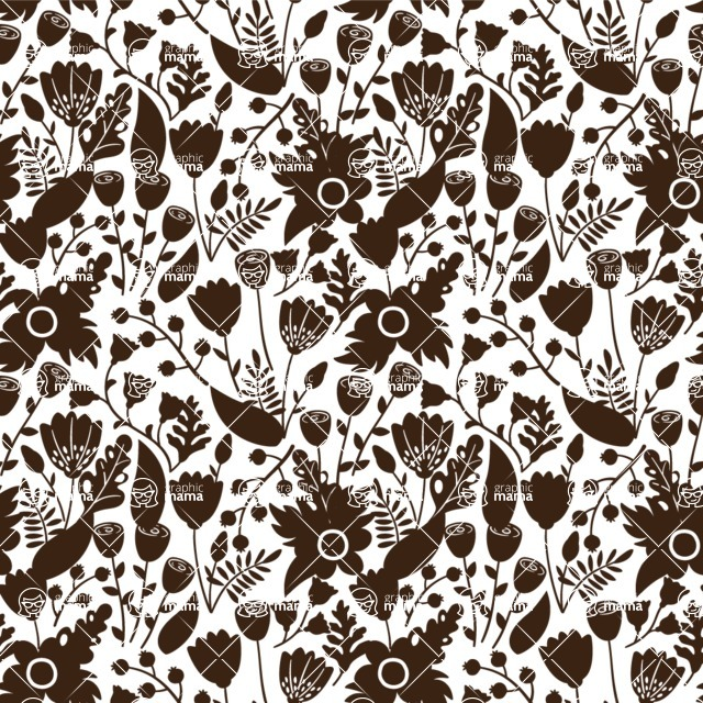 Seamless Pattern Designs Mega Bundle - Flower Pattern 21