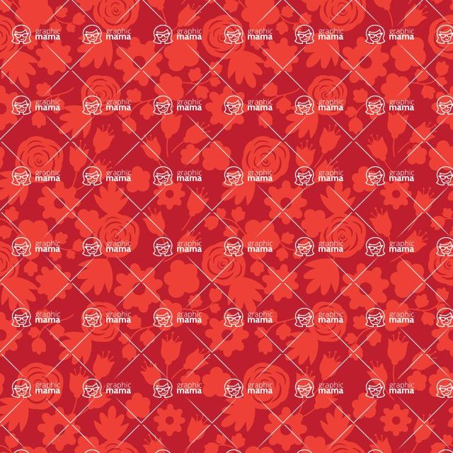 Seamless Pattern Designs Mega Bundle - Flower Pattern 23