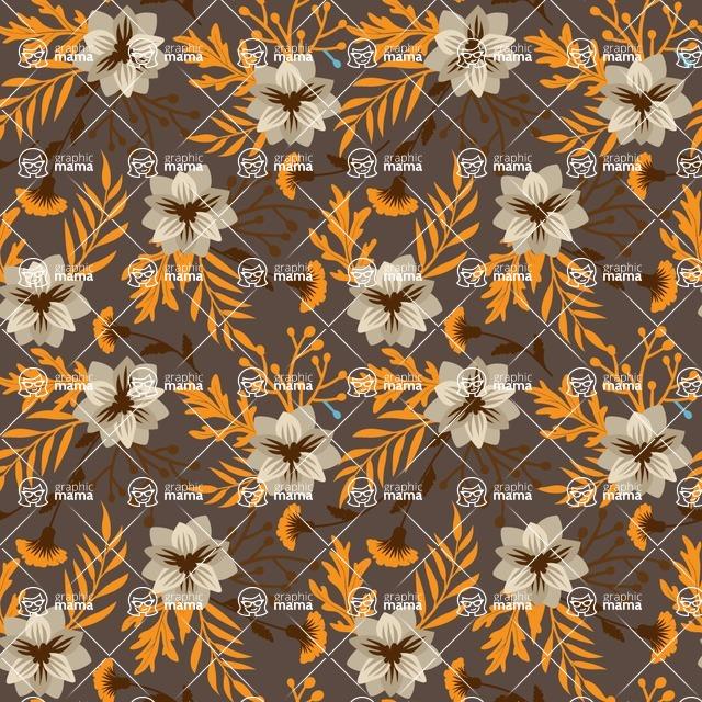 Seamless Pattern Designs Mega Bundle - Flower Pattern 25