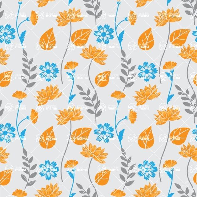 Seamless Pattern Designs Mega Bundle - Flower Pattern 27