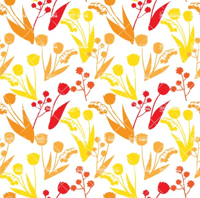 Seamless Pattern Designs Mega Bundle - Flower Pattern 28