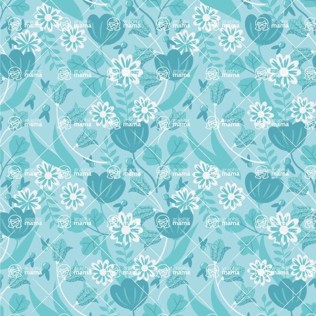 Seamless Pattern Designs Mega Bundle - Flower Pattern 29