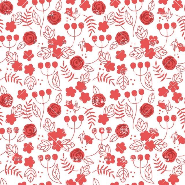 Seamless Pattern Designs Mega Bundle - Flower Pattern 30