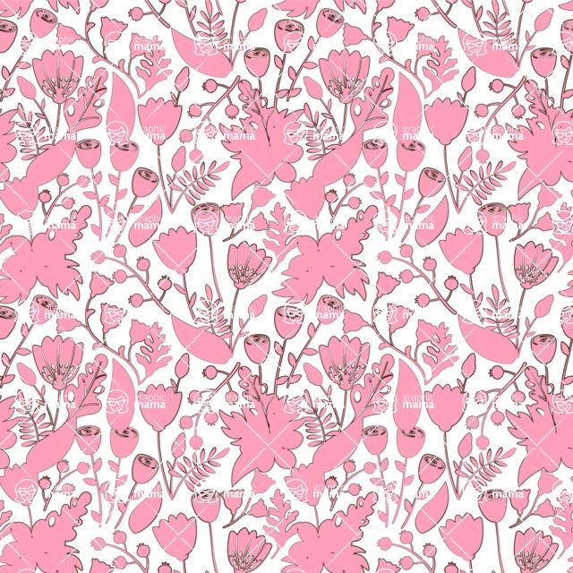 Seamless Pattern Designs Mega Bundle - Flower Pattern 33