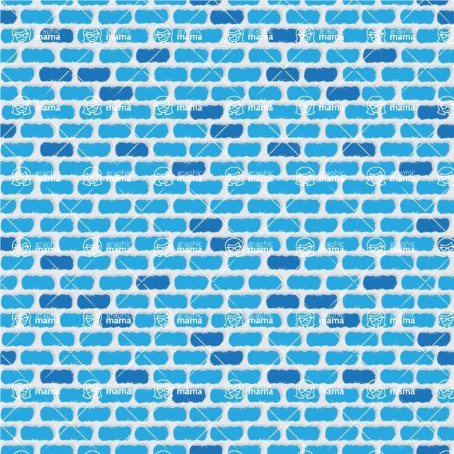 Seamless Pattern Designs Mega Bundle - Hand-drawn Pattern 71