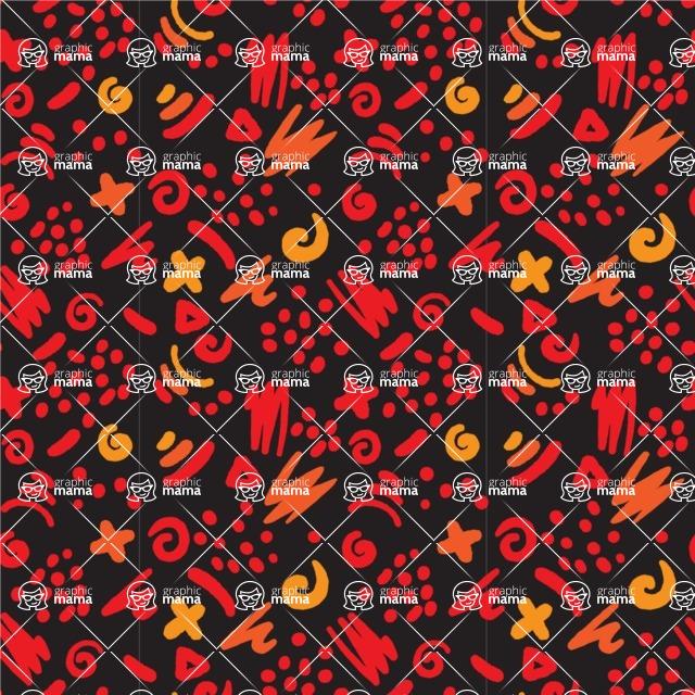 Seamless Pattern Designs Mega Bundle - Hand-drawn Pattern 72