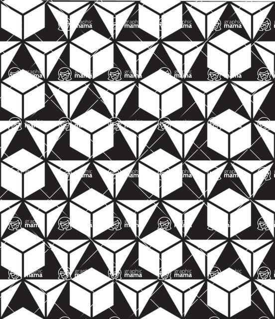 Seamless Pattern Designs Mega Bundle - Geometric Pattern 6