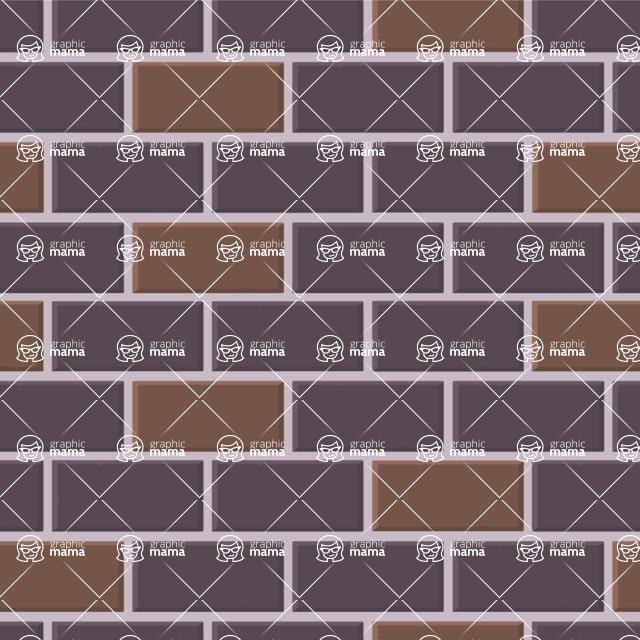 Seamless Pattern Designs Mega Bundle - Brick Pattern 9
