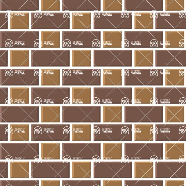 Seamless Pattern Designs Mega Bundle - Brick Pattern 11