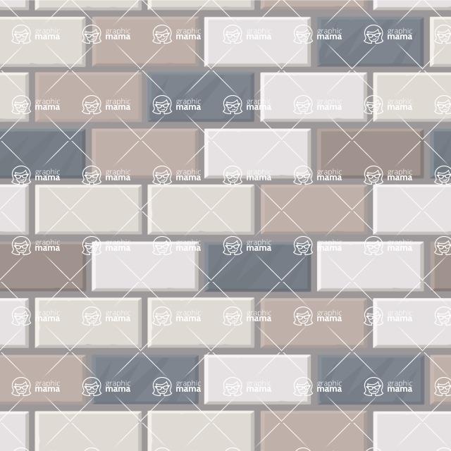 Seamless Pattern Designs Mega Bundle - Brick Pattern 12