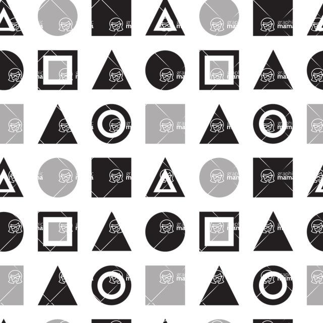 Seamless Pattern Designs Mega Bundle - Geometric Pattern 16