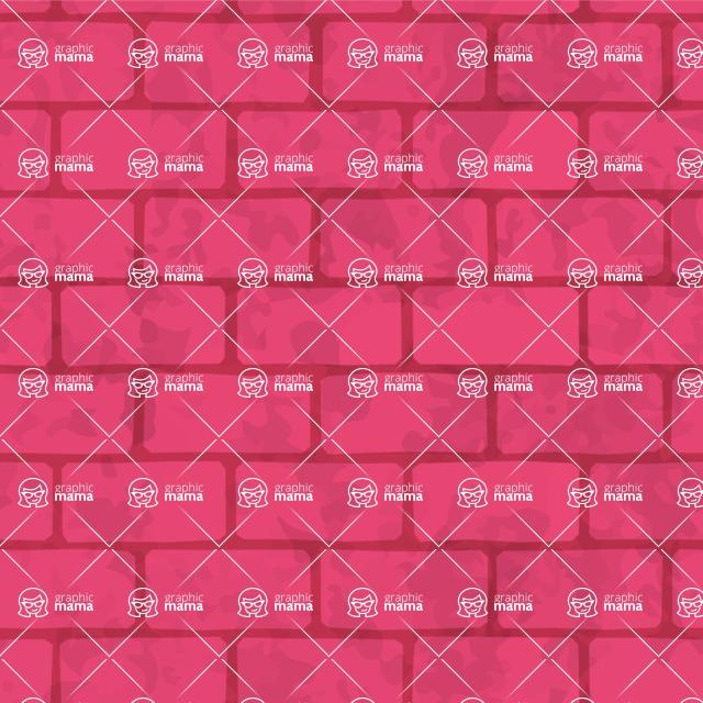 Seamless Pattern Designs Mega Bundle - Brick Pattern 18