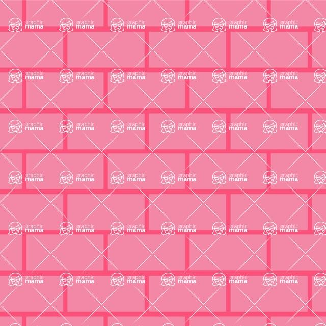 Seamless Pattern Designs Mega Bundle - Brick Pattern 21