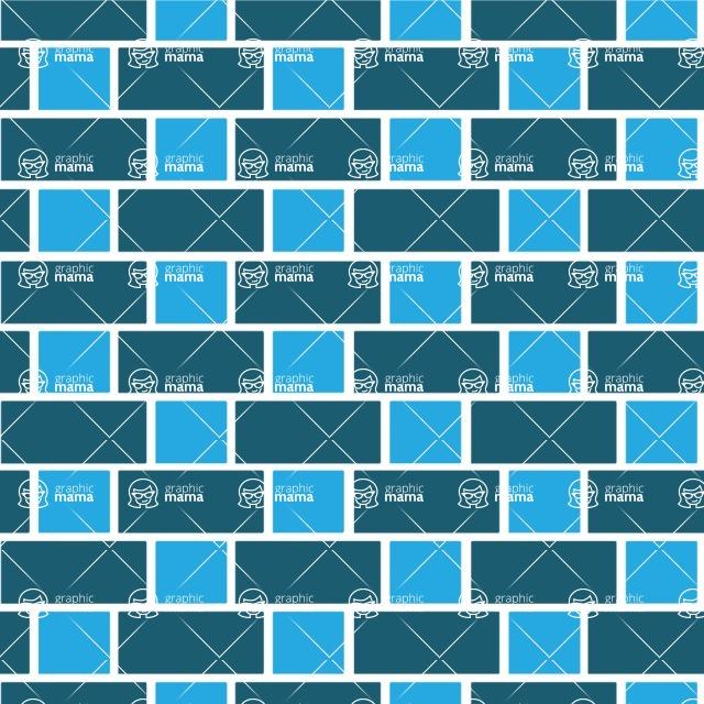 Seamless Pattern Designs Mega Bundle - Brick Pattern 23