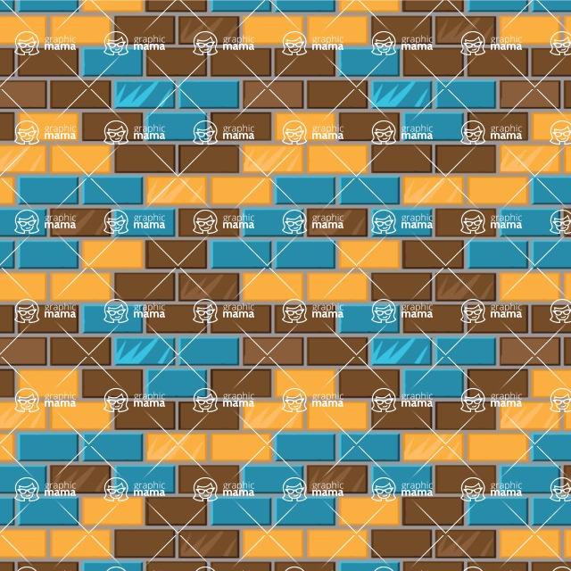 Seamless Pattern Designs Mega Bundle - Brick Pattern 24