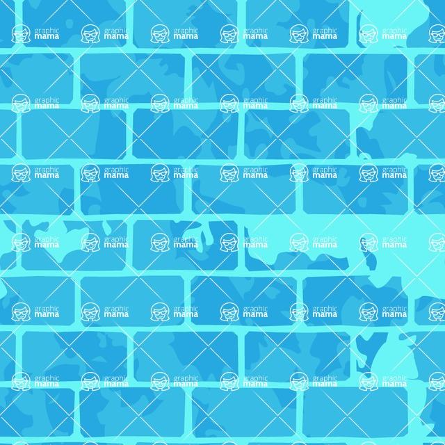 Seamless Pattern Designs Mega Bundle - Brick Pattern 28