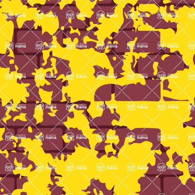 Seamless Pattern Designs Mega Bundle - Brick Pattern 30