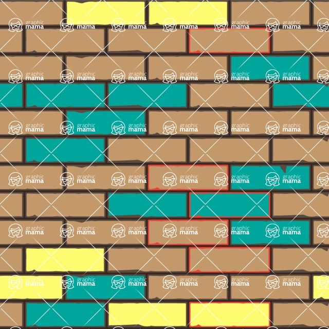 Seamless Pattern Designs Mega Bundle - Brick Pattern 31