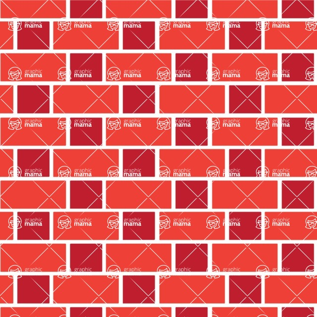Seamless Pattern Designs Mega Bundle - Brick Pattern 35
