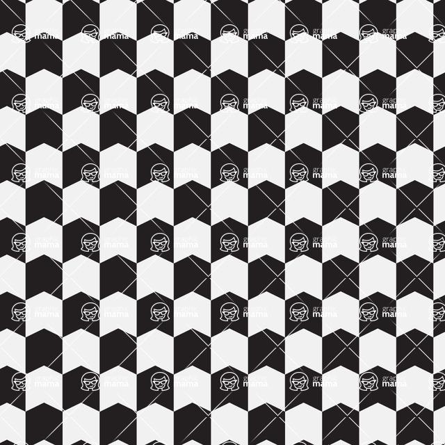 Seamless Pattern Designs Mega Bundle - Geometric Pattern 25