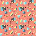 Seamless Pattern Designs Mega Bundle - Memphis Pattern 1