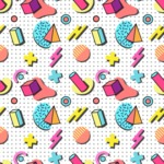 Seamless Pattern Designs Mega Bundle - Memphis Pattern 3