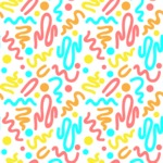 Seamless Pattern Designs Mega Bundle - Memphis Pattern 5