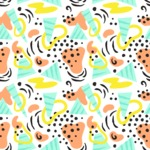 Seamless Pattern Designs Mega Bundle - Memphis Pattern 12